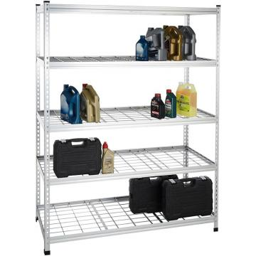 Stainless Steel Wire Store Chinese Floor Storage Supermarket Metal Retail Fruit Gondola Display Rack Stand Shelf
