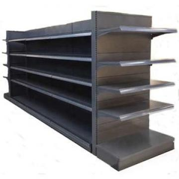 Floor Garment Stand Large Wood and Metal Clothes Display Shelf for Retailed Store